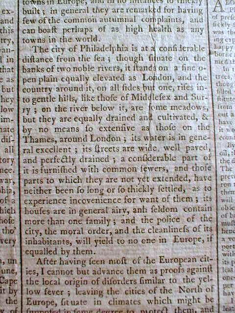 Fever 1793 essay