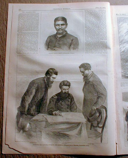 1865 illus Civil War newspaper LINCOLN ASSASSINATION John Wilkes Booth shot dead