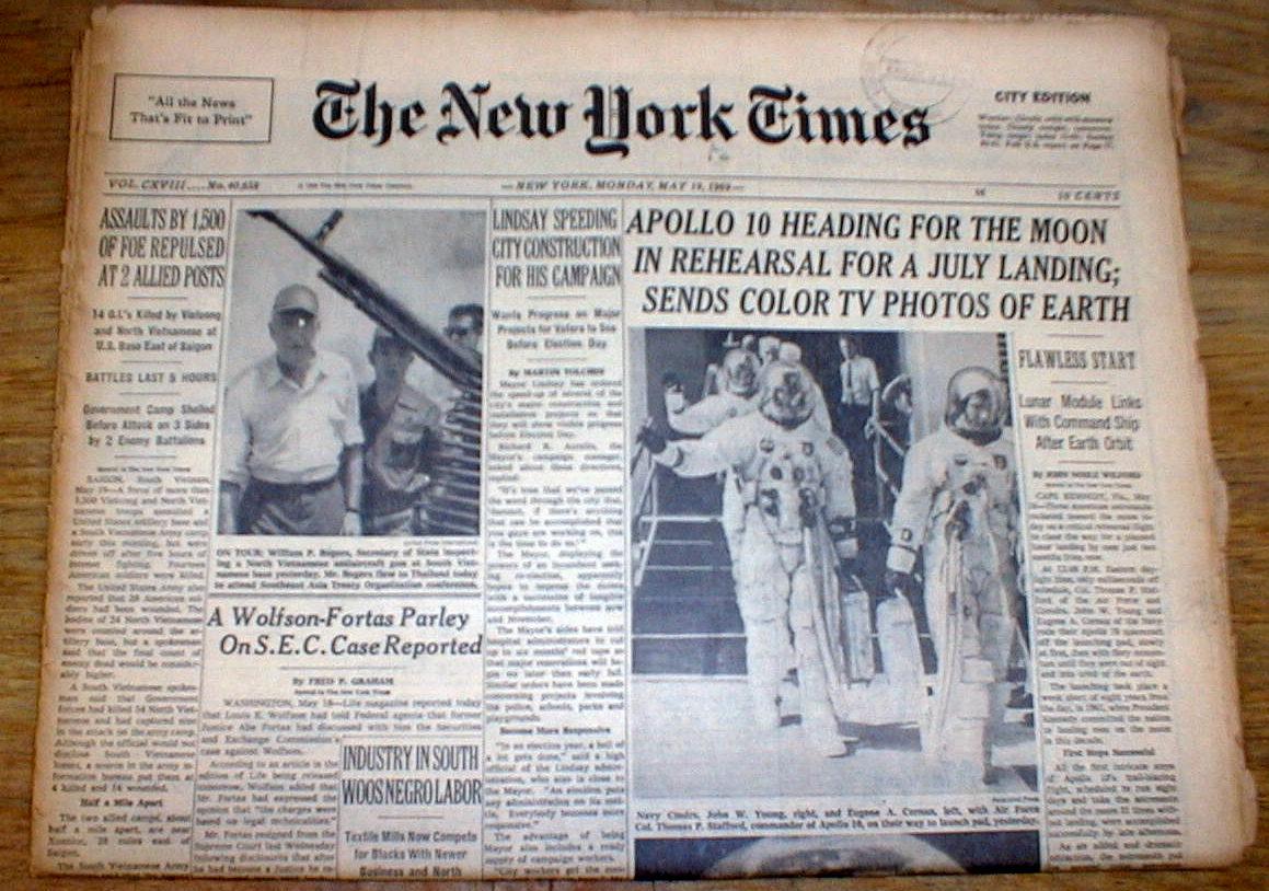 moon landing newspaper - photo #22