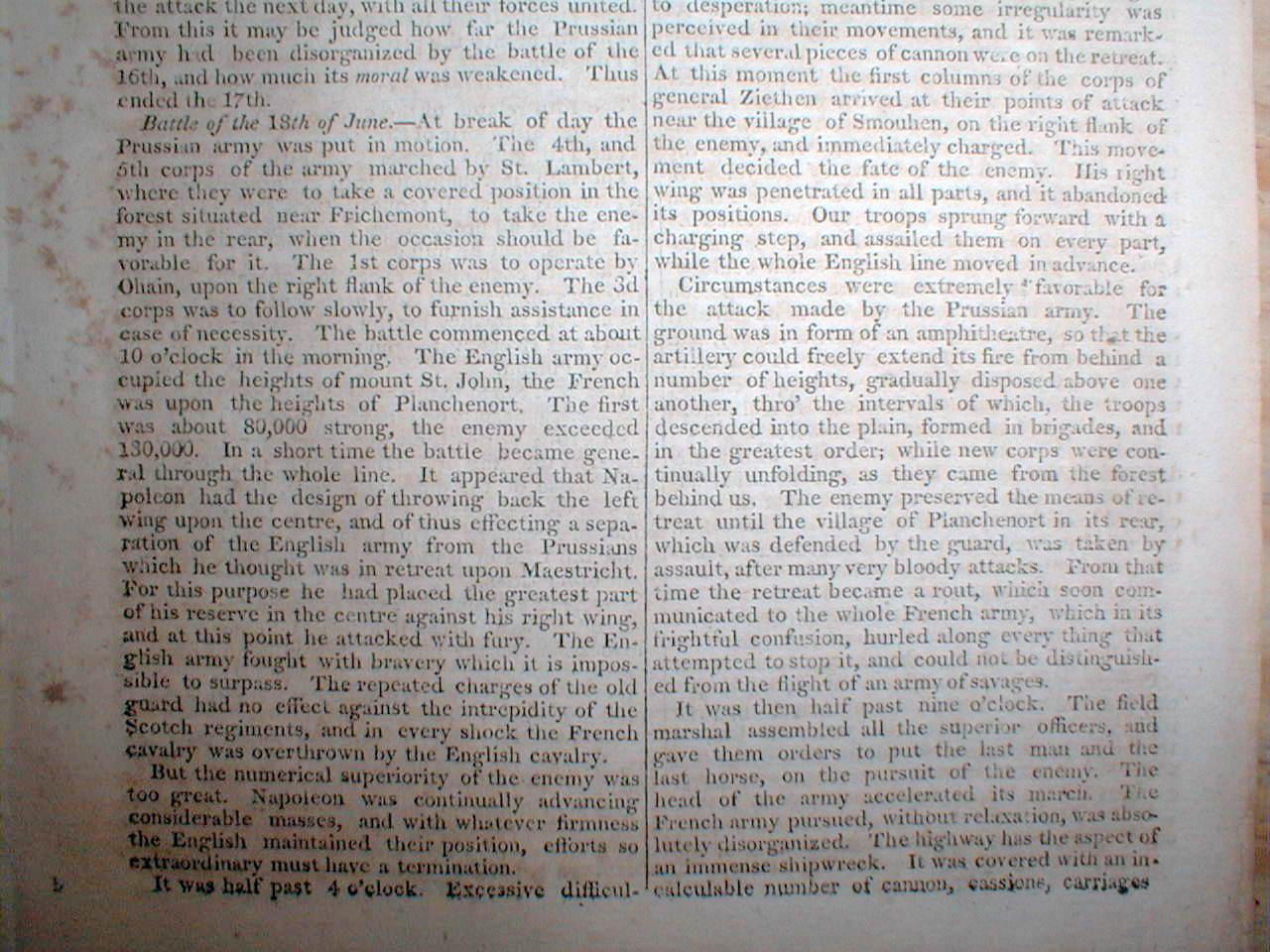 an eyewitness account of the napoleonic