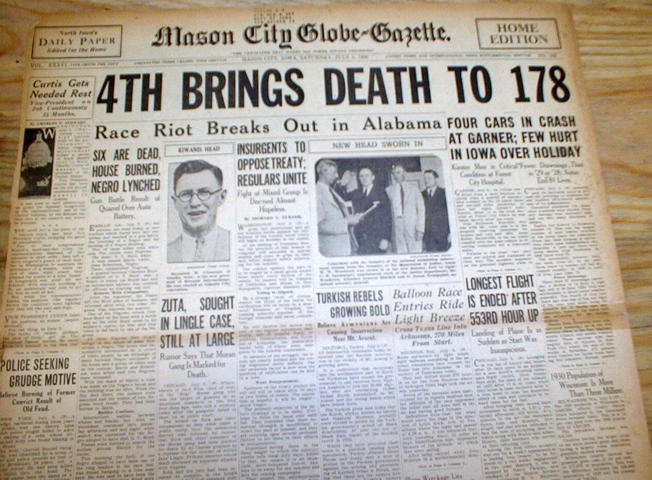 1930s Newspaper Headlines