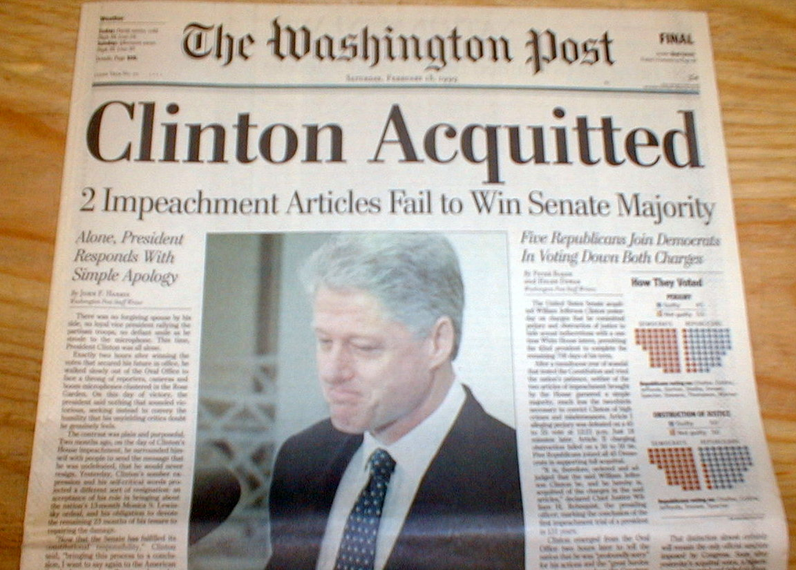 the background of president bill clintons impeachment