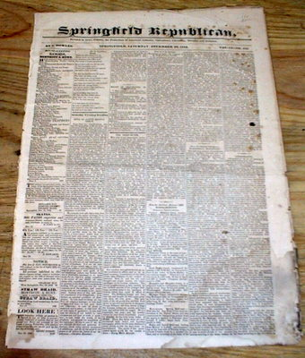 BEST 1832 hdlne display newspaper BABBAGE INVENTS the FIRST MECHANICAL COMPUTER