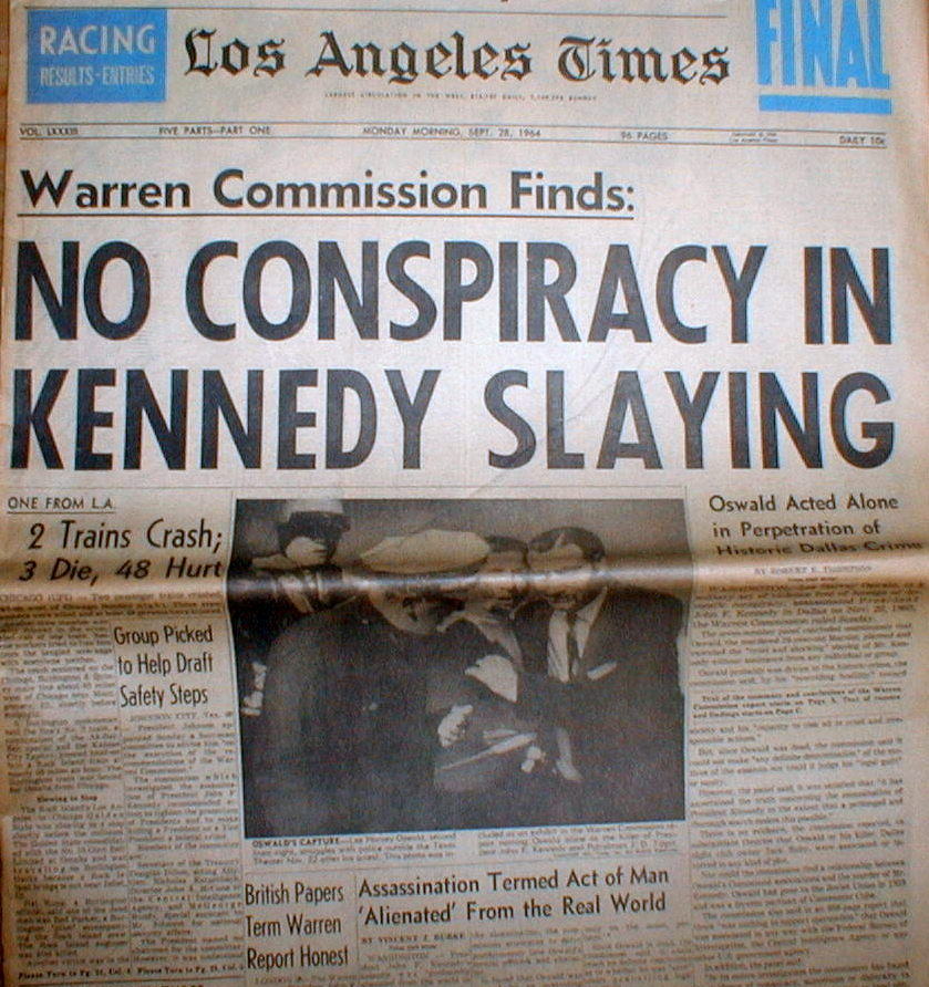 the warren commission a look into the assassination of president john f kennedy After the autopsy kennedy's body was embalmed and was put into  president john f kennedy assassination  the warren commission before the assassination.