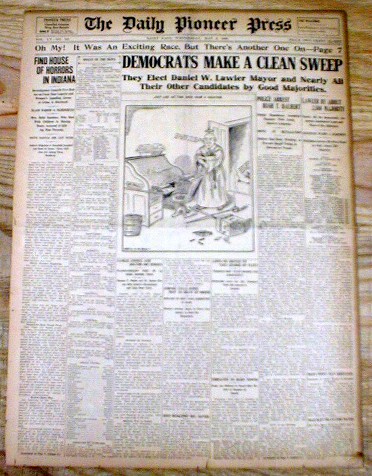 1908 newspaper female serial killer belle gunness bodies for Laporte indiana news
