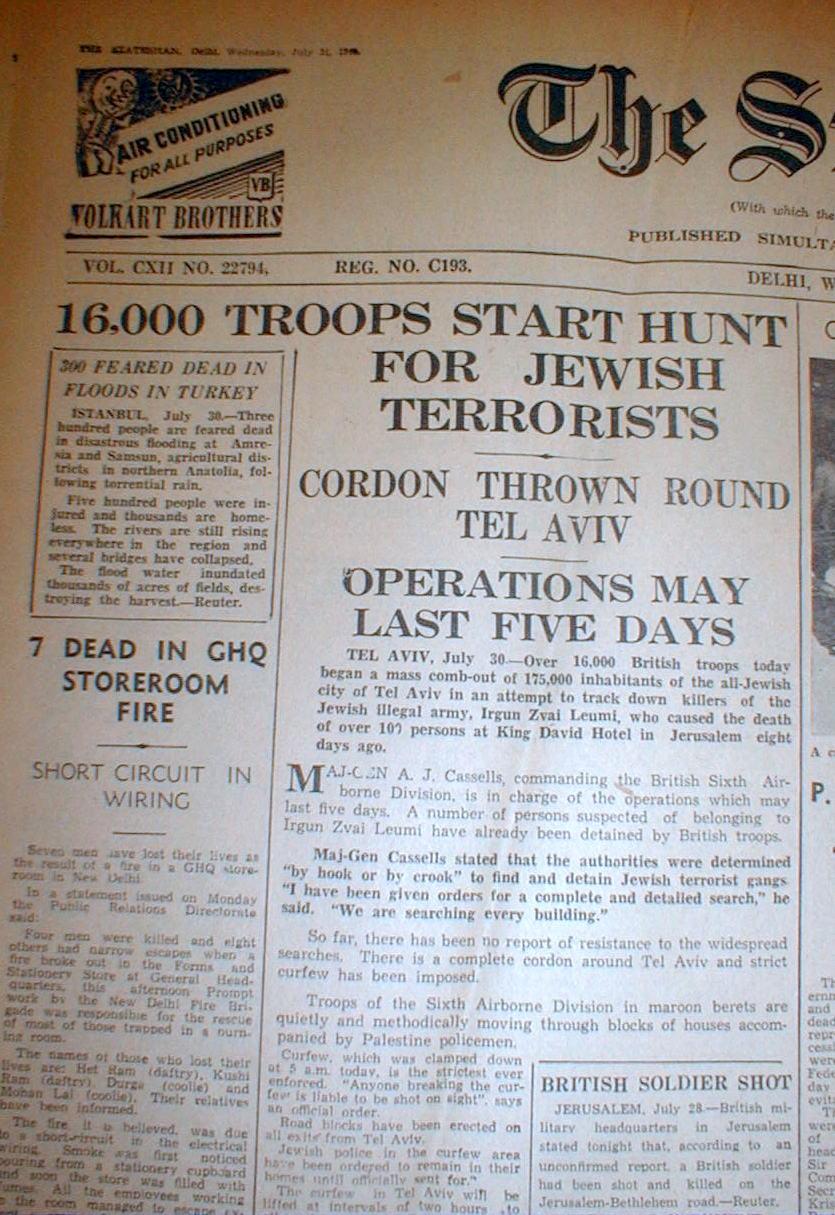 Jewish insurgency in Mandatory Palestine
