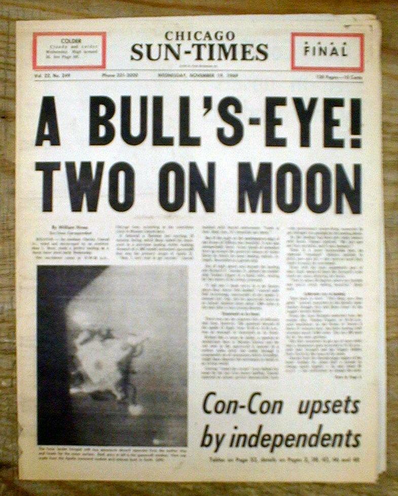 1969 newspaper moon mission - photo #6