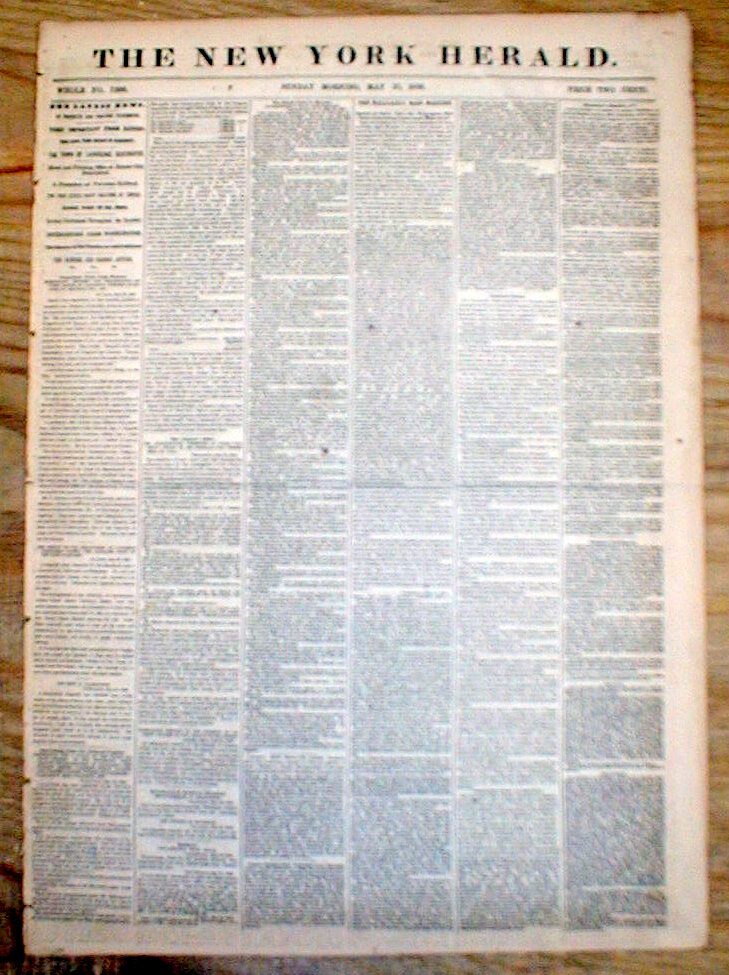 BEST 3 1856 hdl newspapers BLEEDING KANSAS CIVIL WAR Pro ... Sack Of Lawrence 1856