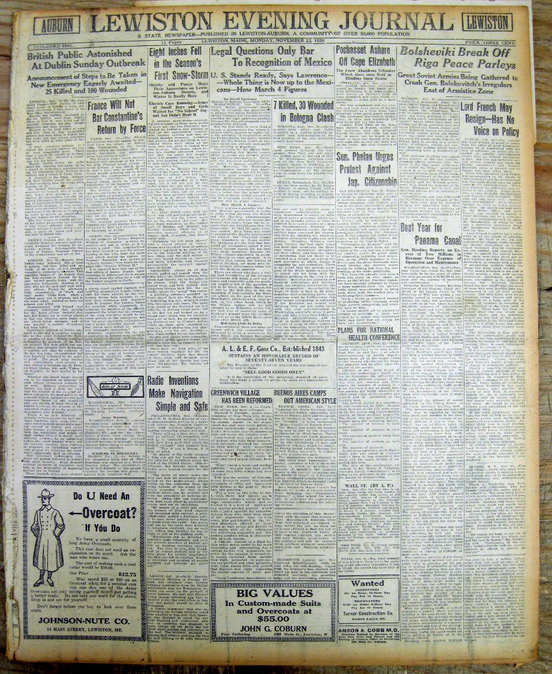 1920 bloody sunday L'espressione bloody sunday (domenica di sangue) è talvolta utilizzata per indicare il 21 novembre 1920, quando l'esercito britannico aprì il fuoco sulla folla nello stadio di croke park, a dublino, durante la partita di calcio gaelico fra le contee di dublino e tipperary, per rappresaglia dopo che, quella mattina, diciannove agenti segreti.