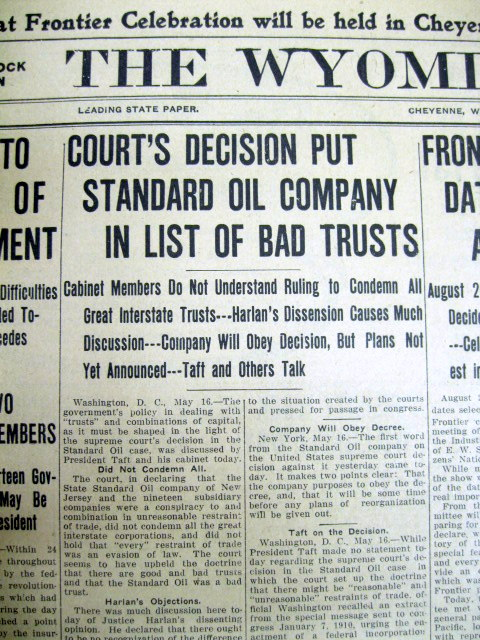 Standard Oil Co. of New Jersey v. United States, 221 U.S. 1 (1911)