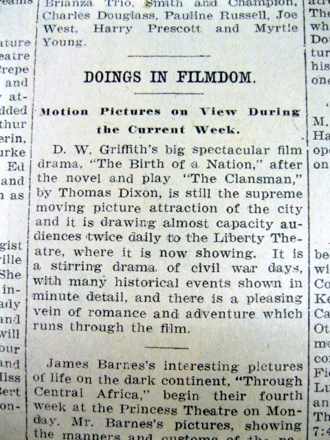 an analysis of how the film birth of a nation by dw griffith influenced the american view during the Is still considered a landmark of the american cinema the film has been the birth of a nation was pure griffith statement reflect griffith's view of.