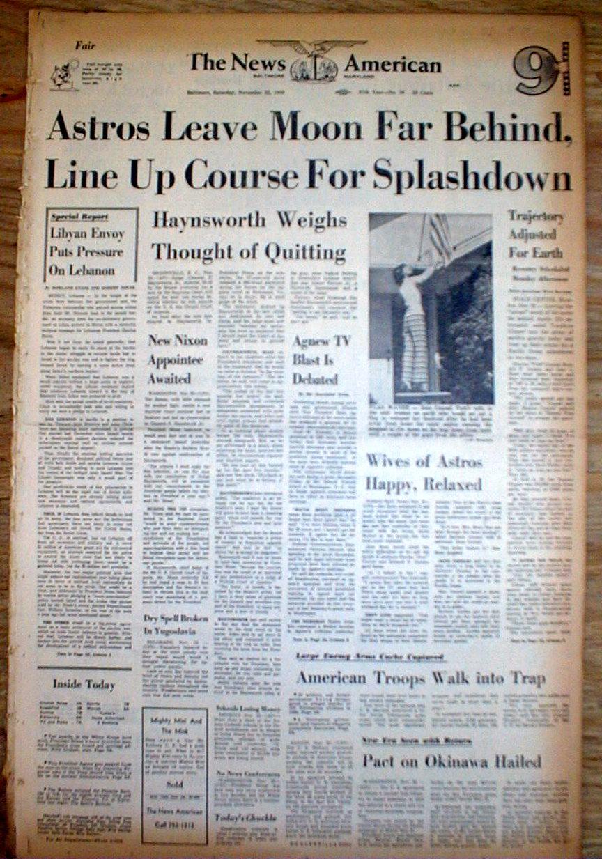 1969 newspaper moon mission - photo #22