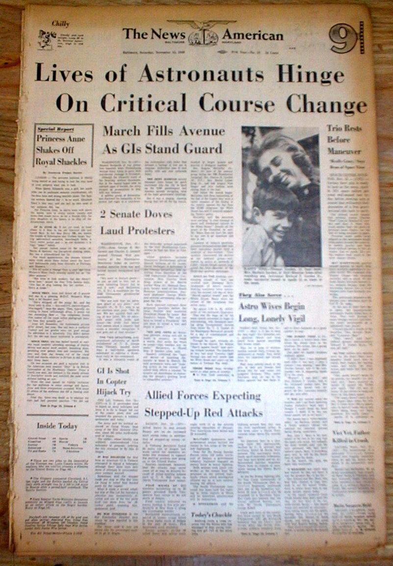 1969 newspaper moon mission - photo #21