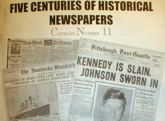 Steve Goldman HISTORICAL NEWSPAPERS